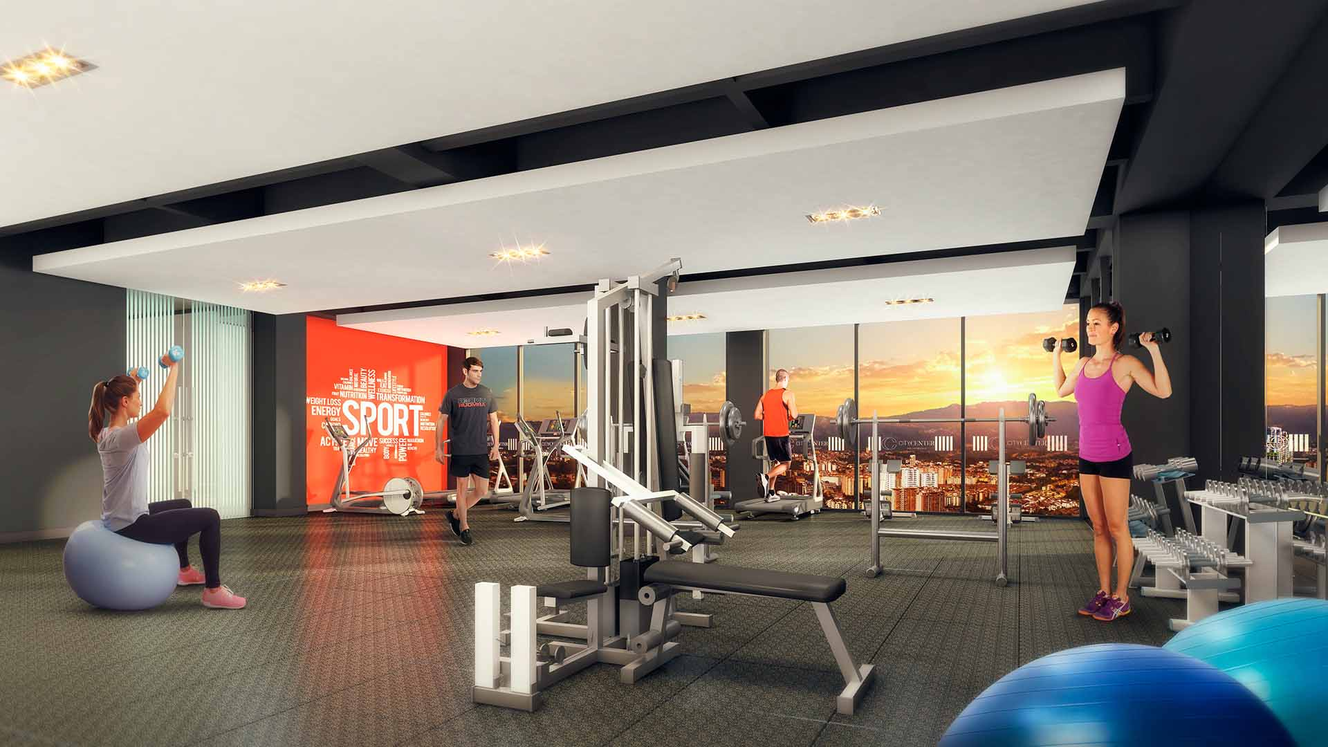 Marval CityCenter GYM Vista3 Baja